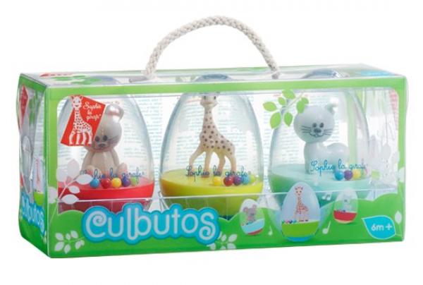 Σόφι Καμηλοπάρδαλη σετ 3 αυγά που ισορροπούν - Culbuto